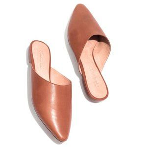 Madewell The Remi Brown Leather Mule